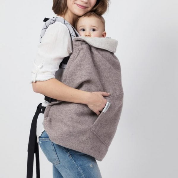 Protectie babywearing din lana merinos Warm Clever Cover - Soft Nude Isara