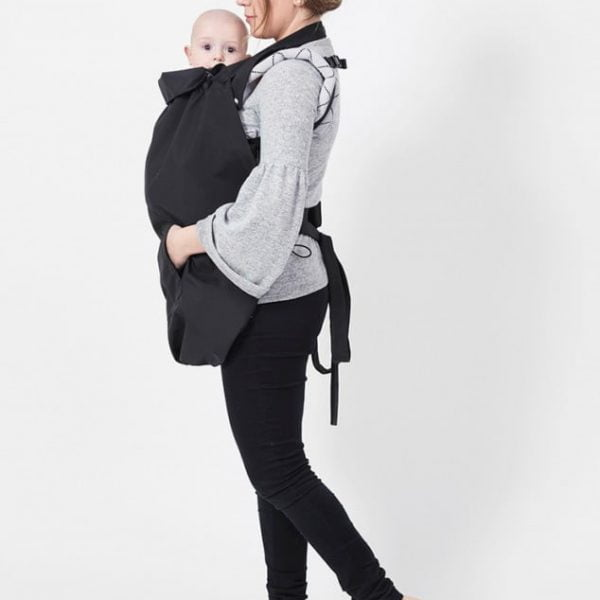 Protecție babywearing de ploaie Clever Cover - Back-To-Black Isara