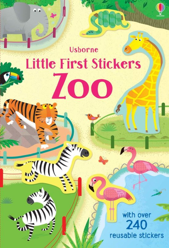 Little First Stickers Zoo - Holly Bathie Usborne Publishing carte cu stickere