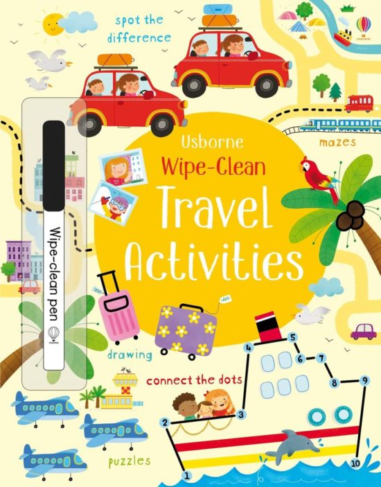 Wipe-Clean Travel Activities - Kirsteen Robson Usborne Publishing carte refolosibilă cu activități