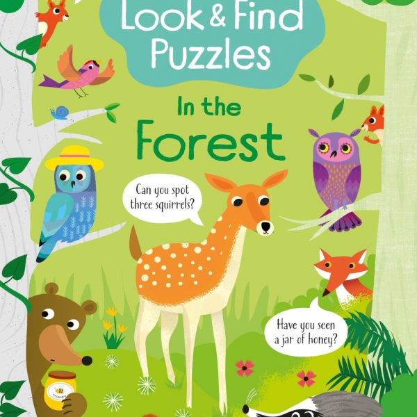 Look and Find Puzzles In the Forest - Kirsteen Robson Usborne Publishing carte cu activități